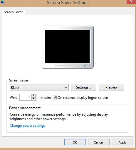 adjust the screensaver options