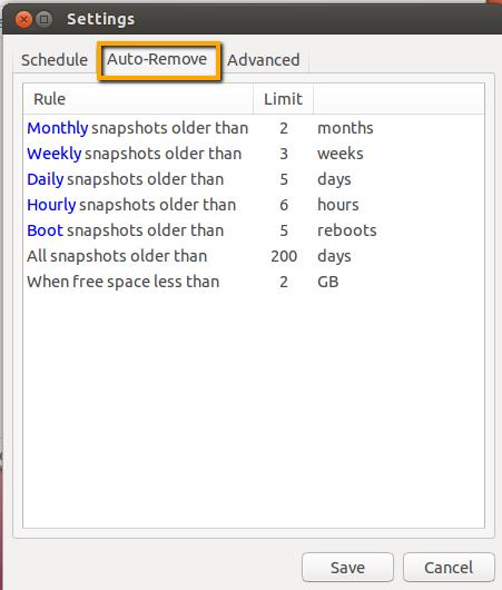 Auto-remove tab