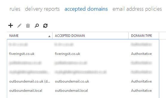 Exchange 2013 mailbox additional smtp address 5 1 1