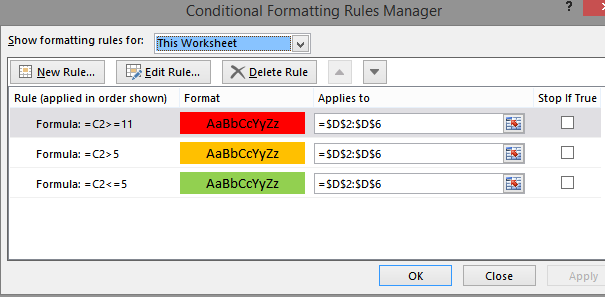 formatting rules
