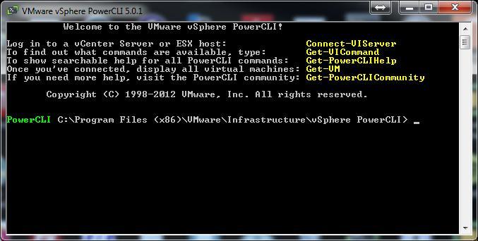 VMware vSphere PowerCLI 5.0.1