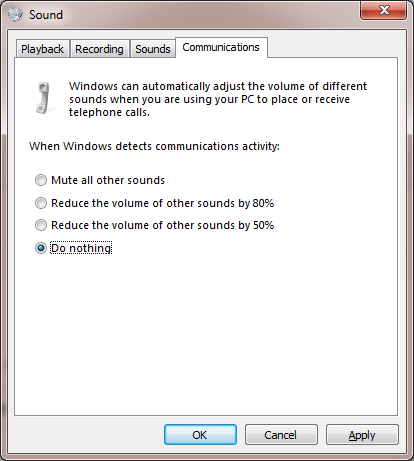 "Built-in ""feature"" to reduce sound levels"