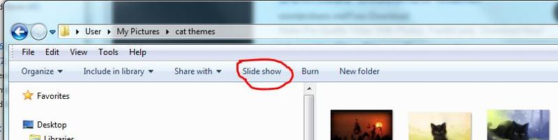 slideshow windows 7