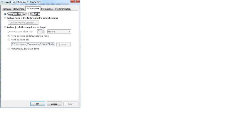 autoarchive per folder