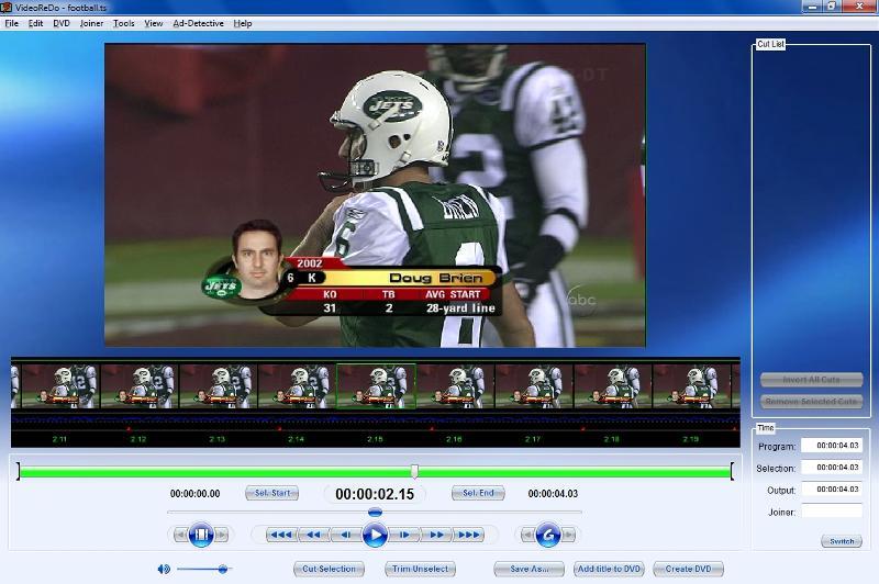 VideoReDo open TS file