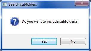 include subfolders prompt
