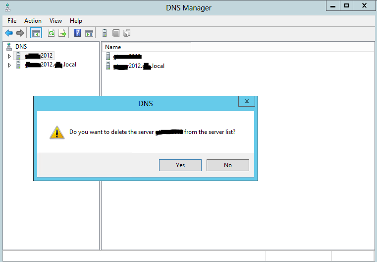 remove dns from display