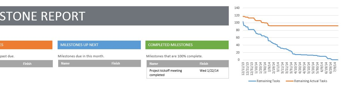 MS Project 2013 Milestone report