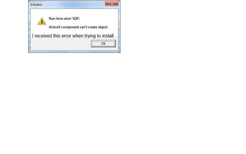 Error trying to register wshom ocx
