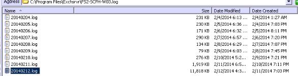 Log folder