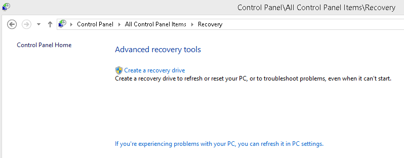 Recovery Control Panel