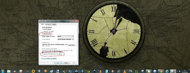 large icons on taskbar