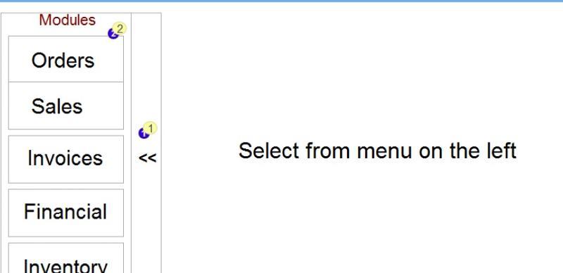 Verticle menu
