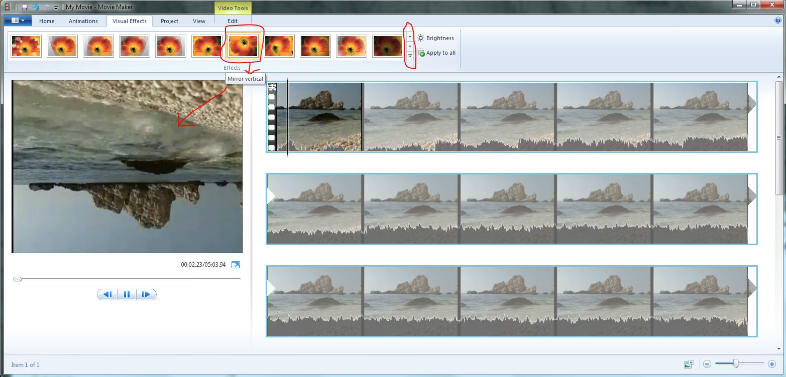Rotate the image 90° for MP4 videos in Windows Media Player