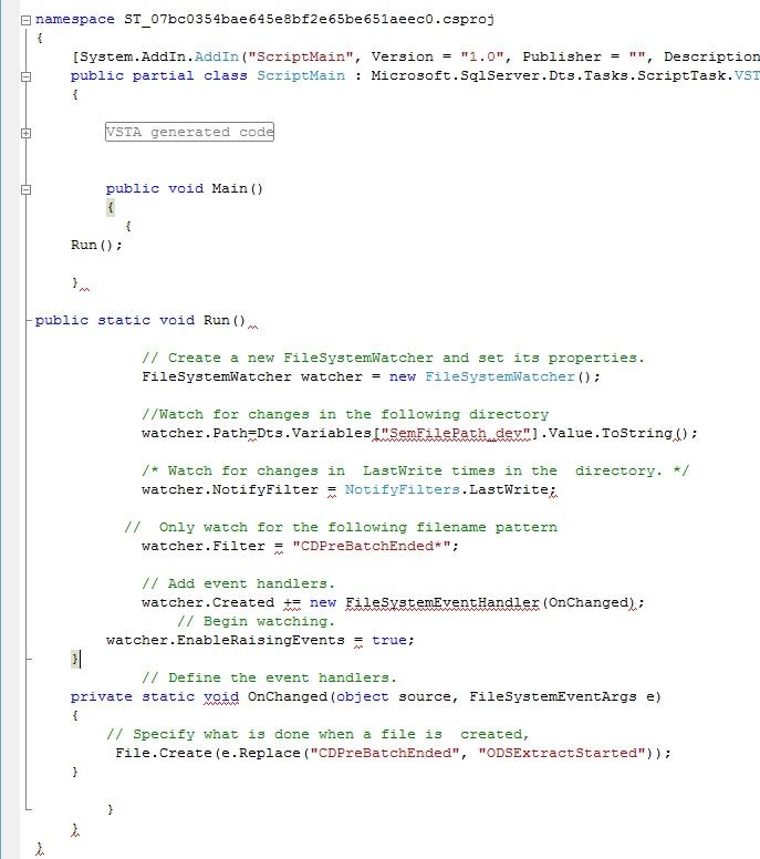 watcher code