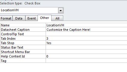 Datasheet Caption