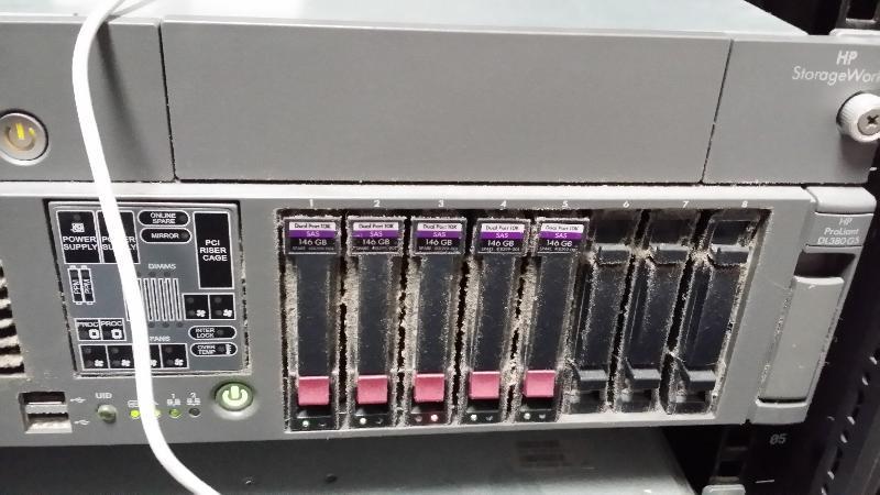 VMWare Server Front HD Status