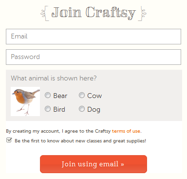 Animal-based CAPTCHA image