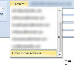 ScreenShot of Outlook 2010