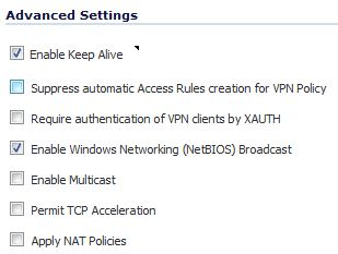 Sonicwall Settings