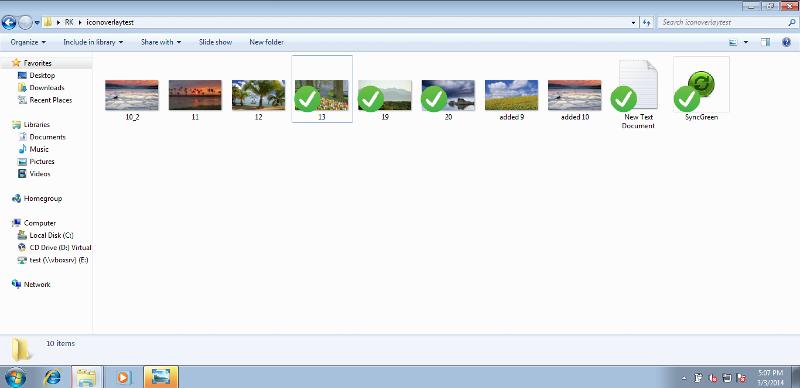 Overlay Icon Sample.