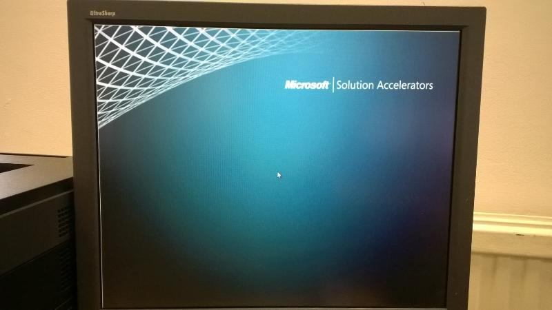 WDS PXE Boot Hang Screen