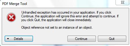 PDF Merge Error