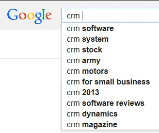 CRM Search Terms