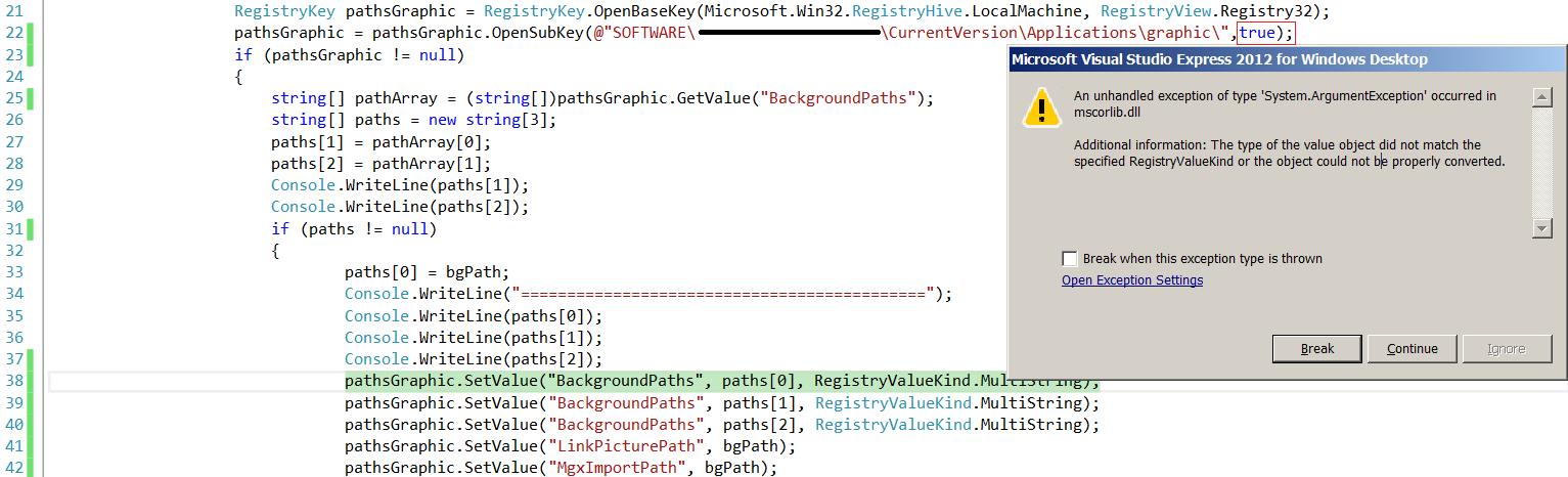 c# registry key path
