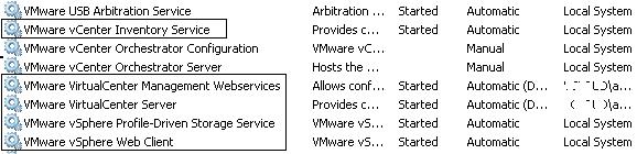 vcenter Services