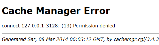 cachmgr error