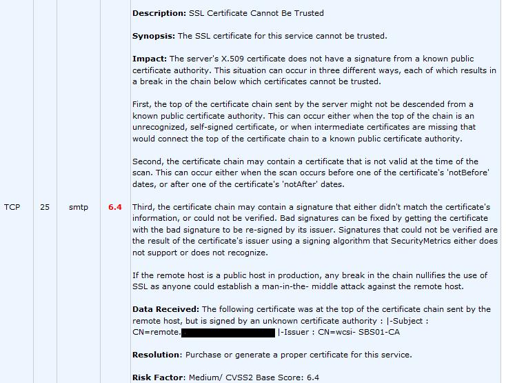 PCI Compliance Message