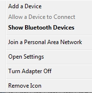 Bluetooth Add a Device