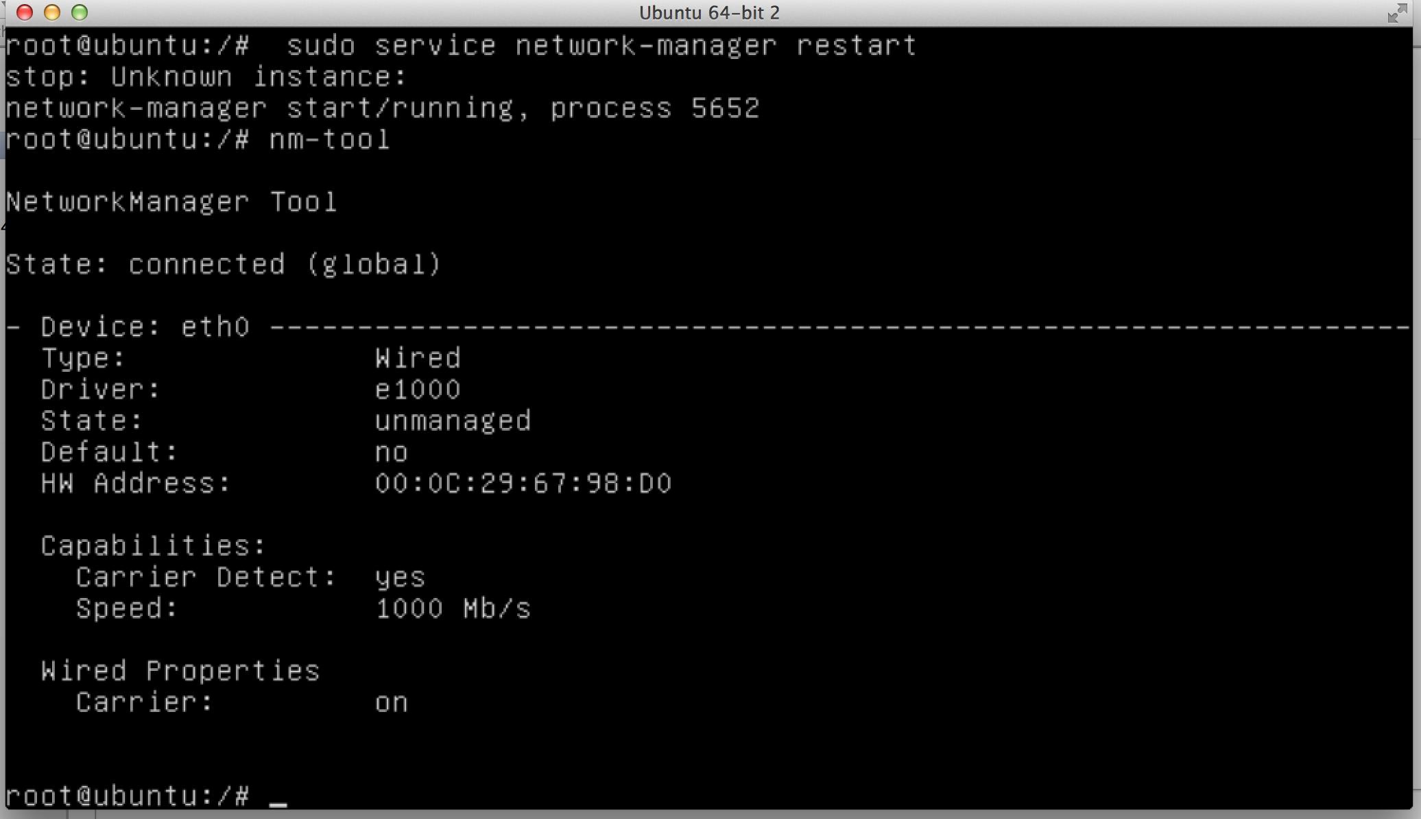 Using nm-tool in Ubuntu