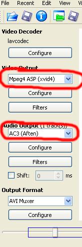 avidemux settings