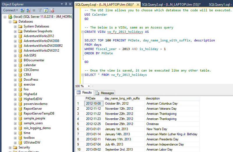 SQL Server, View