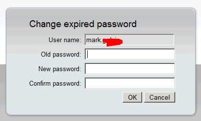 change expired password