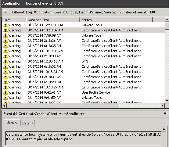 SOLUTION] Certificate for local system with Thumbprint is about to ...