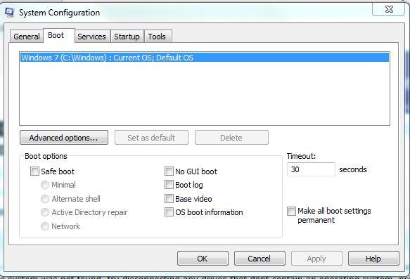 boot loader system configuration