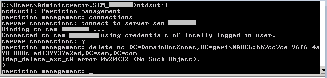 error_removing_DNS_zone
