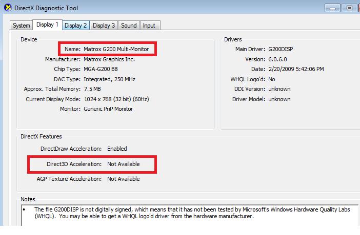 DirectX Diiagnostic Tool