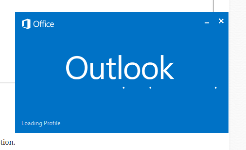 Outlook Loading Screen