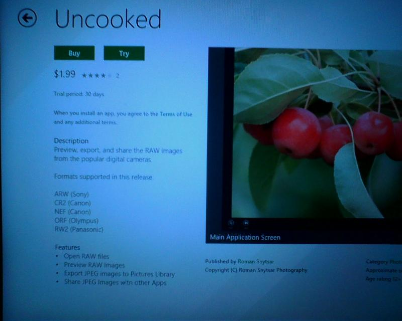 LeftScreen Uncooked at the Windows Store