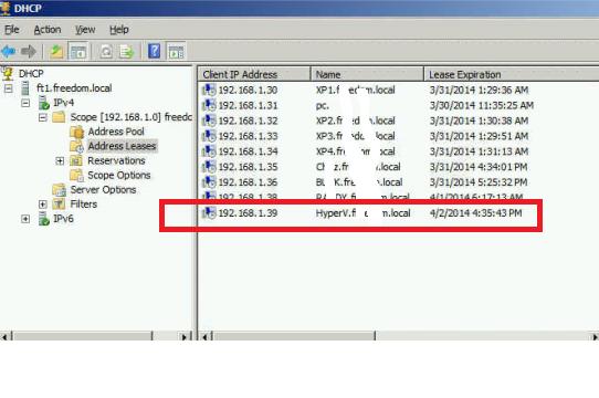 DHCP in SBS2011