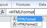 HTMLFormat function