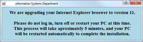 Message window we would like to display on CTRL+ALT+DEL screen