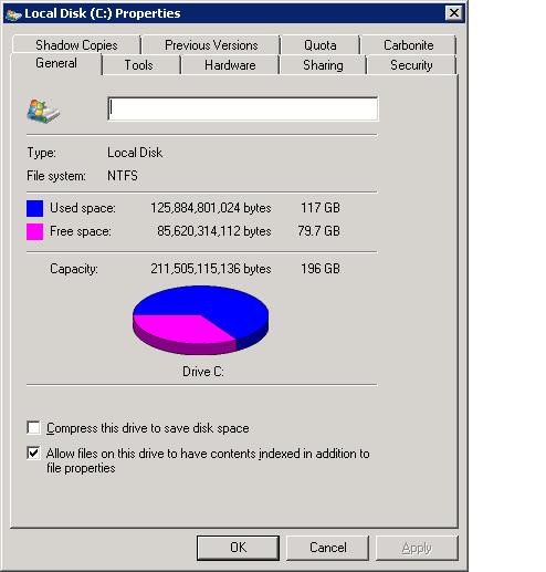 C drive usage