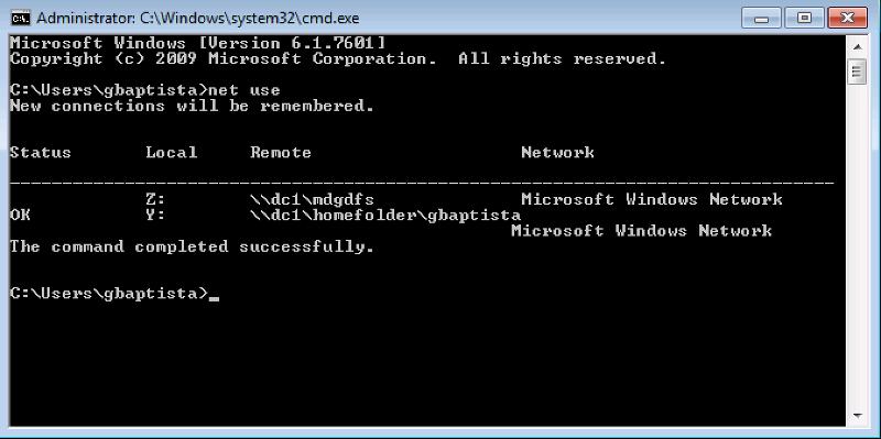 net use