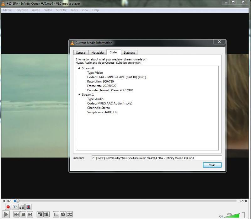 VLC codecs