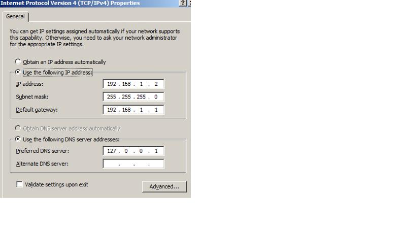 SBS2011 TCPIP